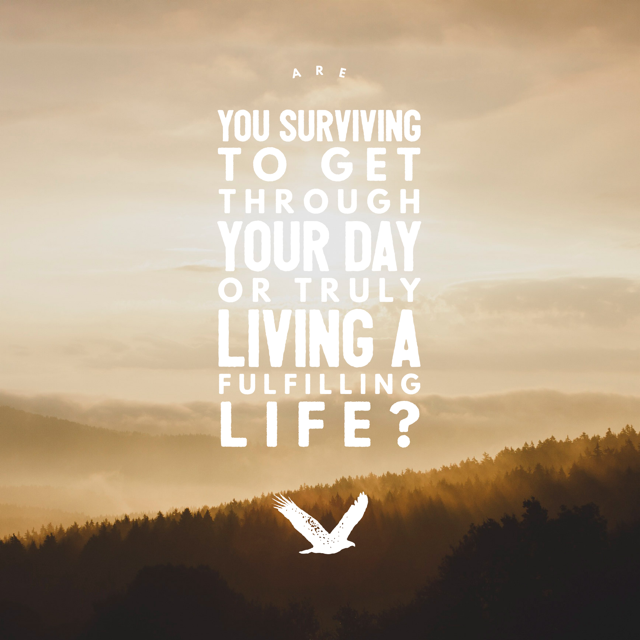 Are you surviving to get through your day or truly living a fulfilling life?
